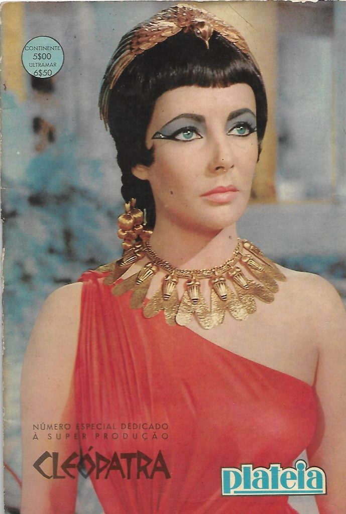 Plateia Portuguese Magazine Special number (1963). All magazine dedicated to Cleopatra movie. Elizabeth Taylor on the cover.