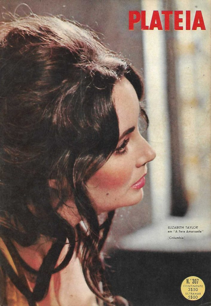 Plateia portuguese Magazine number 307, published in 1966. Elizabeth Taylor on the cover.