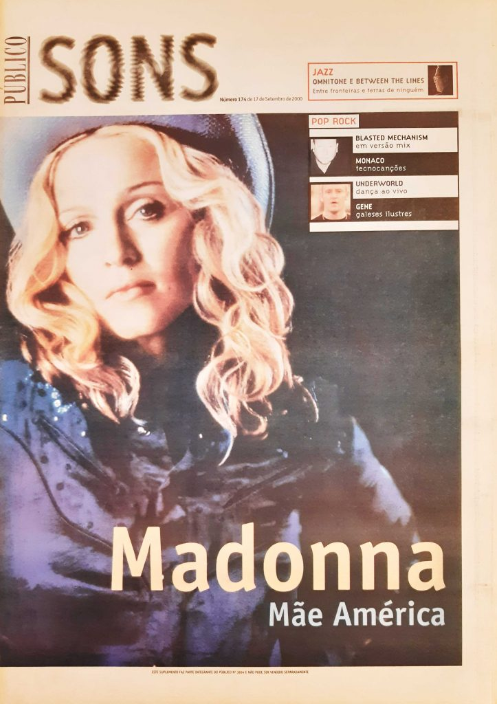 Público Sons number 174 - Madonna on the cover (2000)