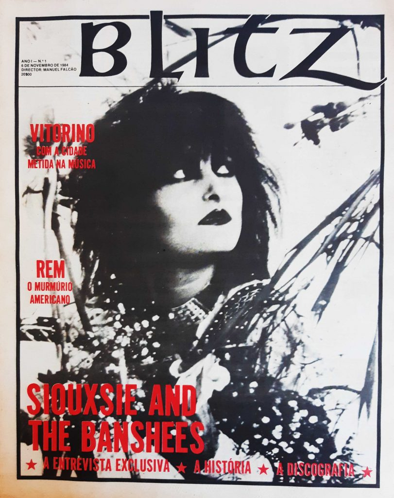 Blitz Portuguese Magazine number 1, Siouxsie & The Banshees on the cover