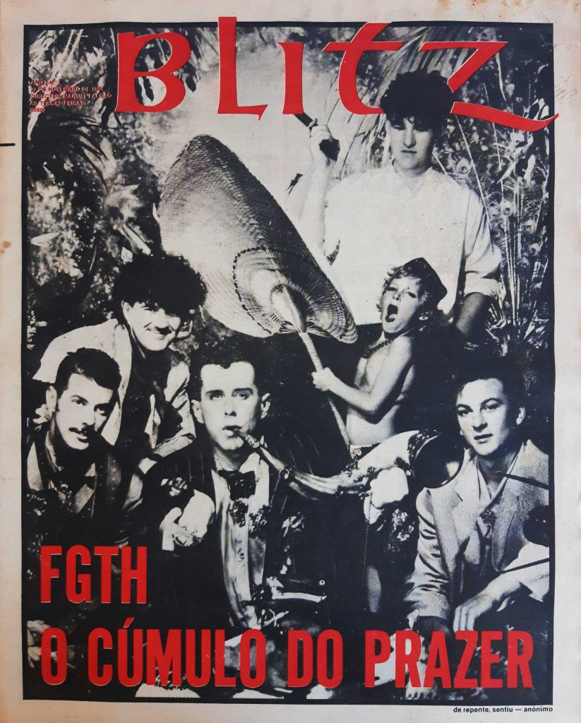 Blitz Portuguese Magazine number 4, Frankie Goes To holliwood on the cover