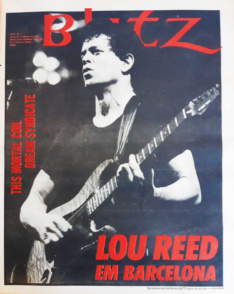 Blitz Portuguese Magazine number 7, Lou Reed on the cover