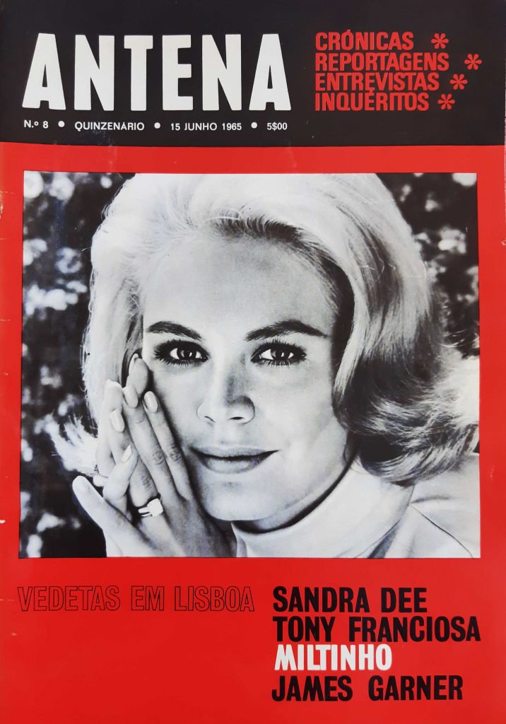 Antena Portuguese Magazine number 8, Sandra Dee on the cover