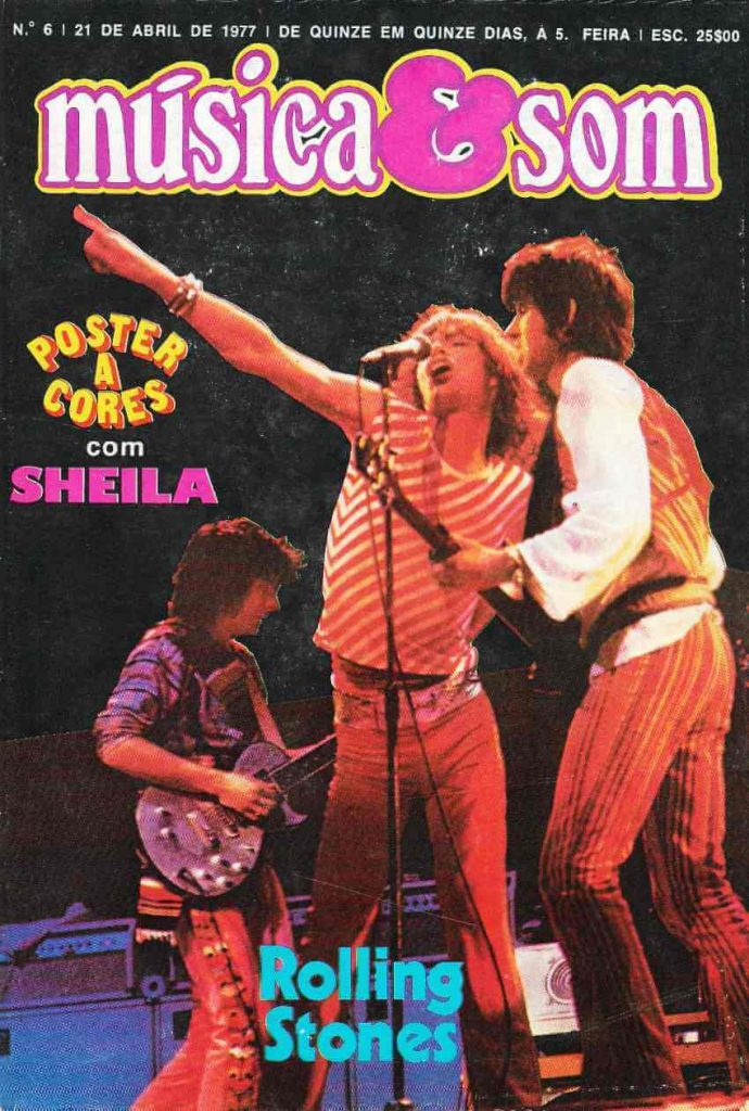 Música & Som #6 Rolling Stones on the cover (1977)