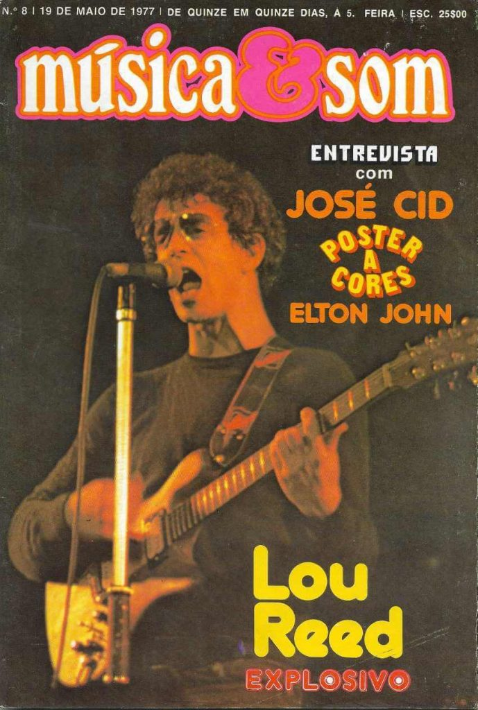 Música & Som #8 Lou reed on the cover (1977)